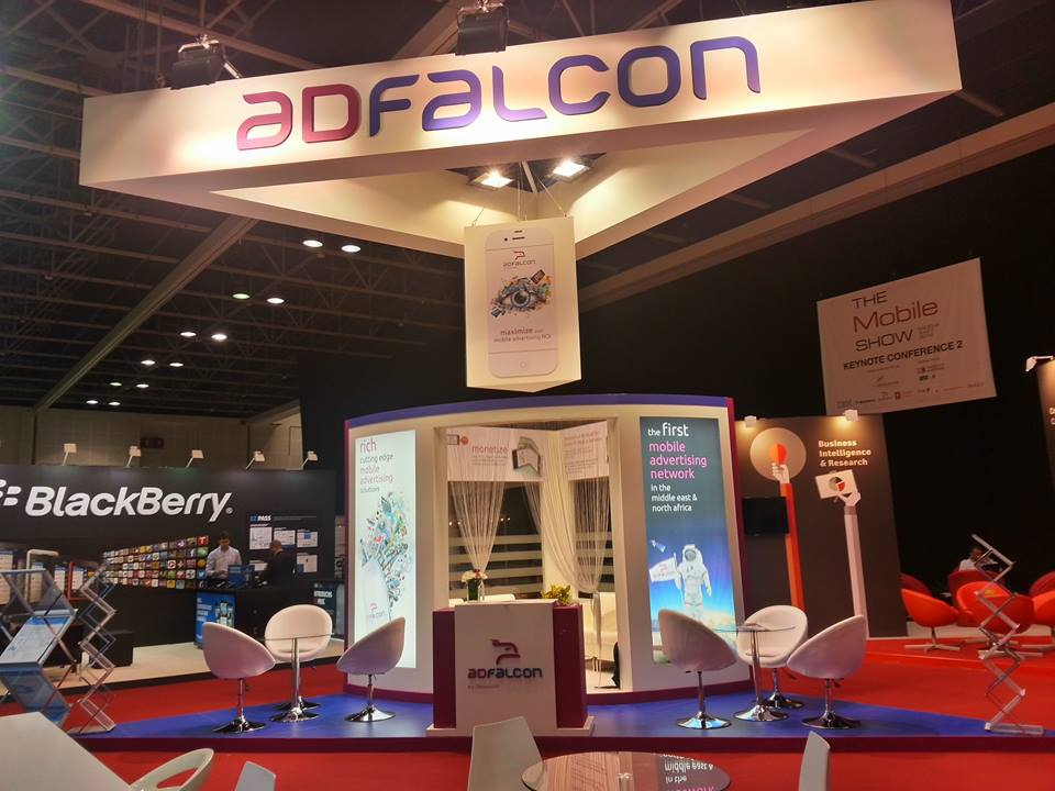 ADFALCON, Mobile show exhibition-2014,Dubai