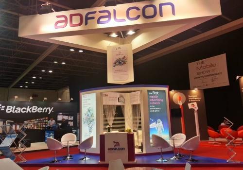ADFALCON, Mobile show exhibition-2014,Dubai